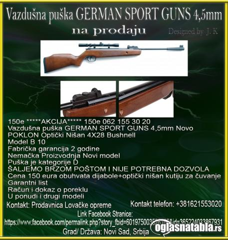 Vazdušna puška GERMAN SPORT GUNS 4,5mm